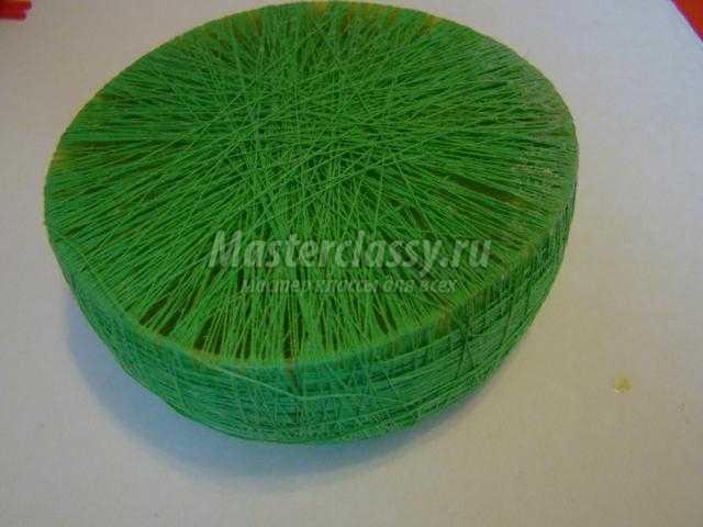 Как из бумаги сделать траву для поделки 20