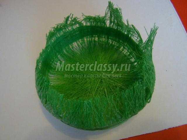 Как из бумаги сделать траву для поделки 32