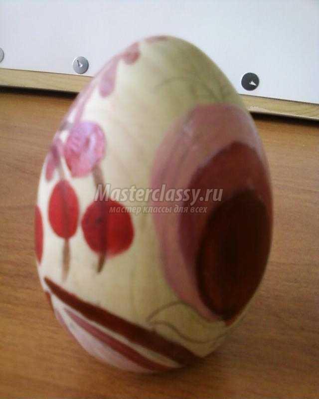 роспись пасхального яйца акриловыми красками