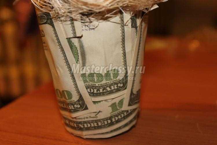подарки своими руками. Денежное дерево из монет