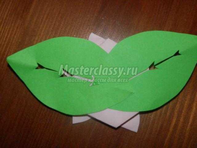 украшение для праздничного стола. Цветок из бумаги