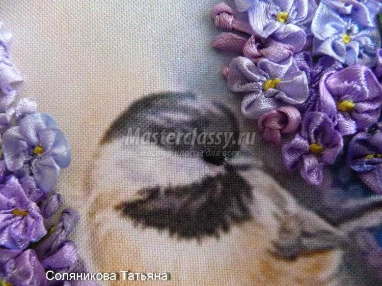 Мастер класс по вышивке лентами птиц