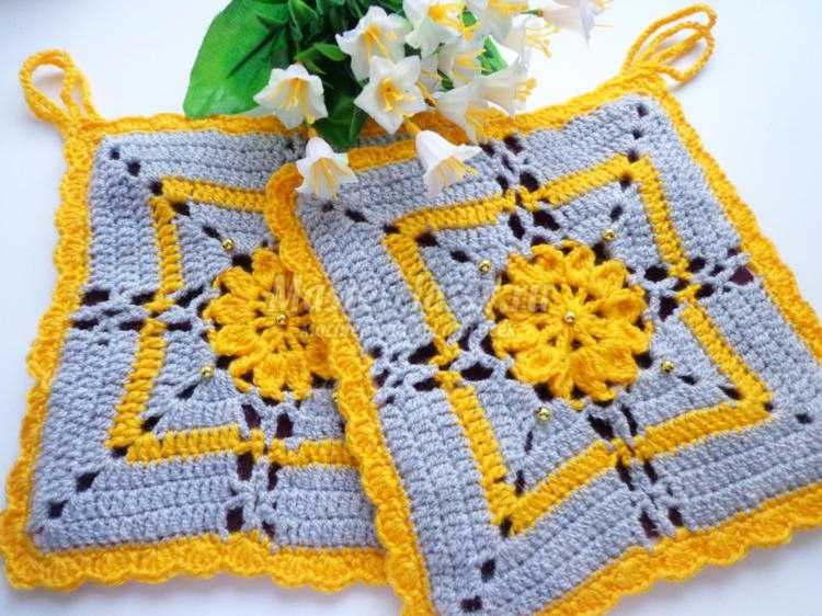 Вязание прихваток с пошаговым фото