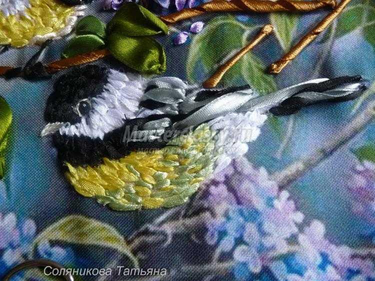 Мастер класс вышивки птиц лентами