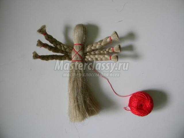 традиционная кукла изо льна своими руками. Филипповка