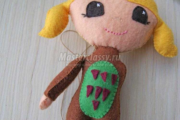 Как сшить куклу из фетра своими руками фото 36