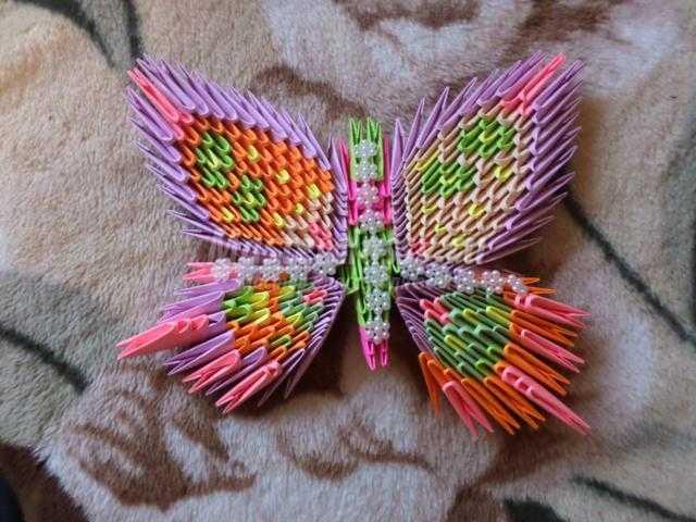 Модульное оригами бабочка схема сборки фото 82