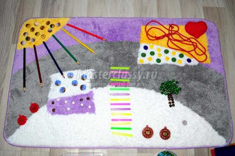 массажный коврик для детей своими руками