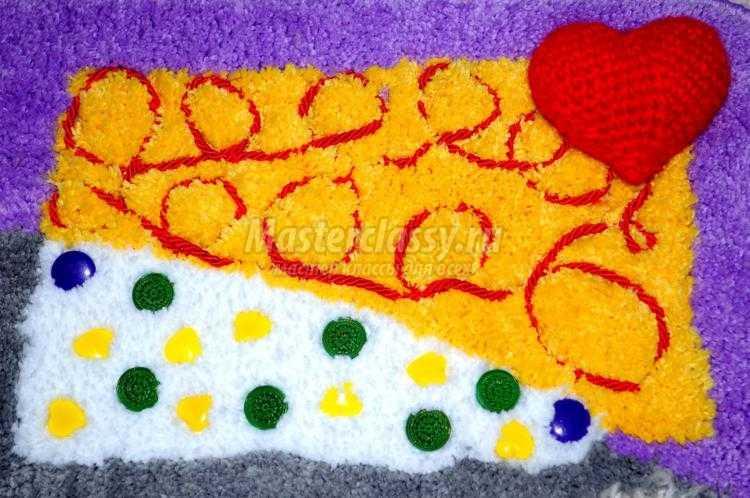 Массажный коврик для ног своими руками 11
