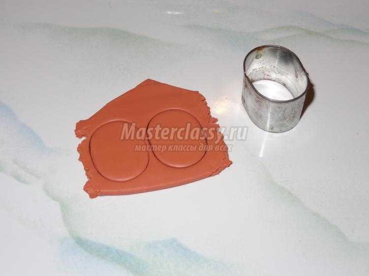 озорные серьги из полимерной глины. Совуньи