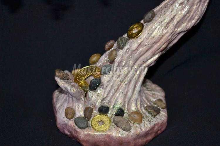 бонсай из бисера с монетами. Остров Сокровищ