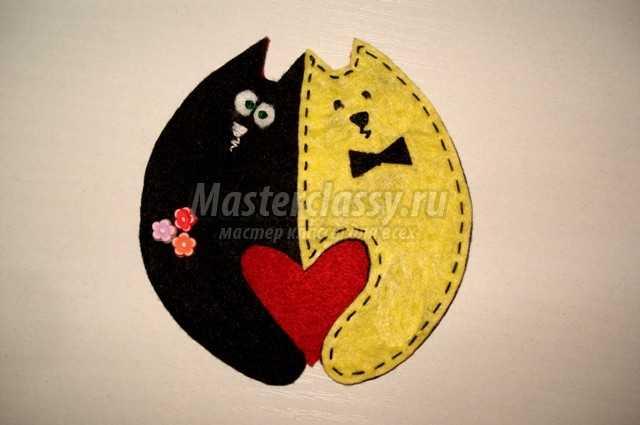 коты-неразлучники из фетра