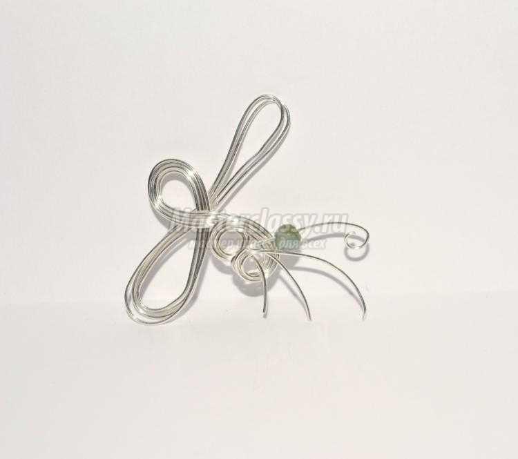 wire Wrap кафф-кольцо из проволоки с флюоритом в пирите