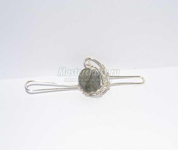 wire Wrap. Регулируемое кольцо из проволоки с лабрадором