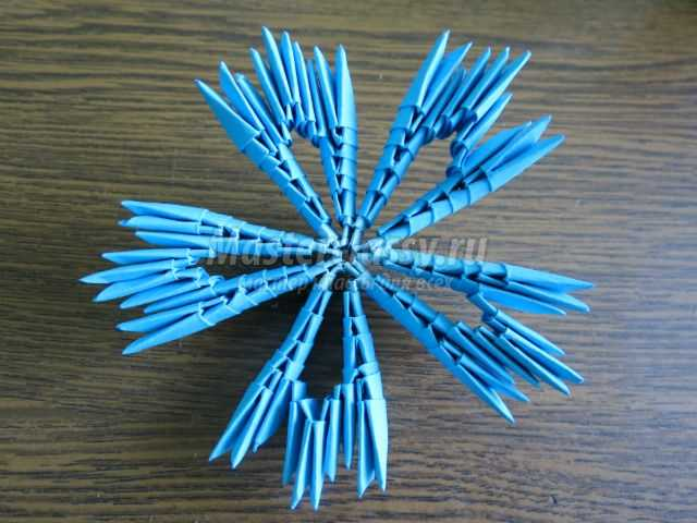 модульное оригами. Василек