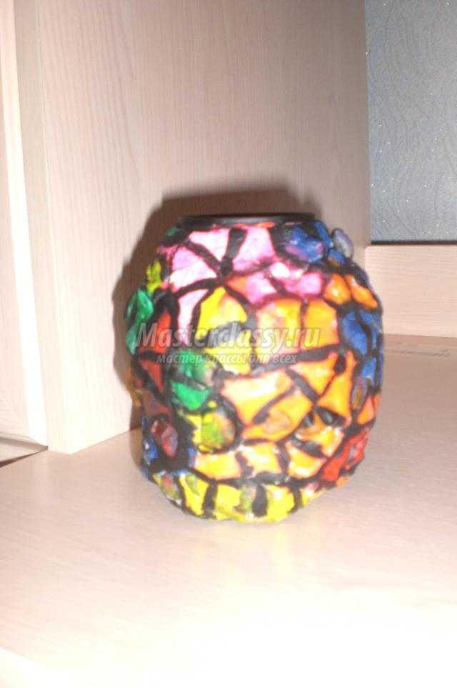 ваза из соленого теста и камней. Летние фантазии