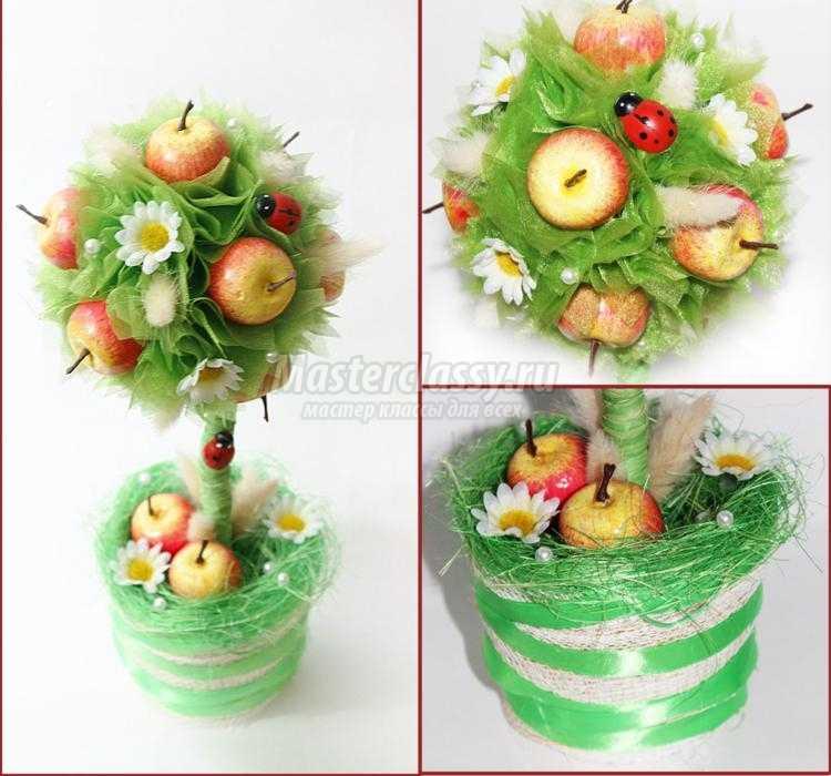 яблочный топиарий своими руками