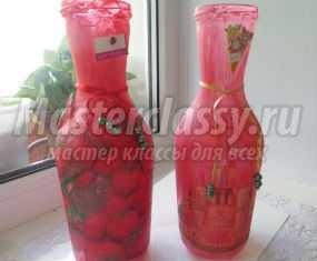 декупаж вазы