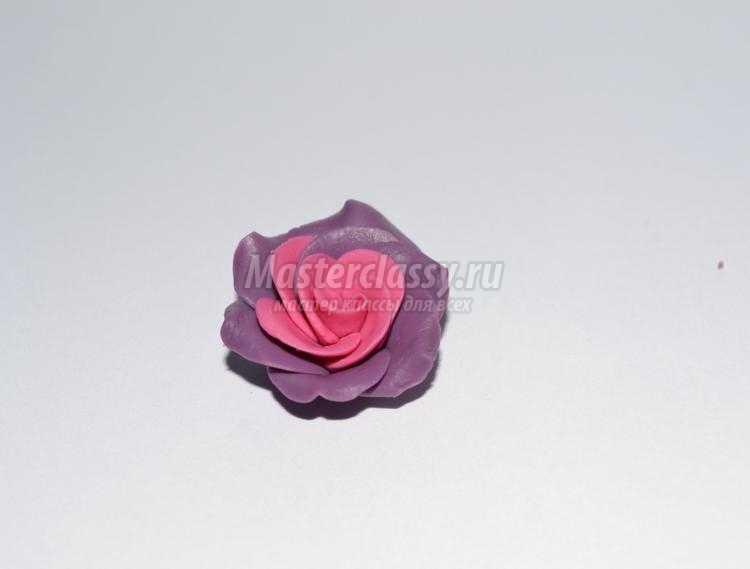 ободок с розами из холодного фарфора