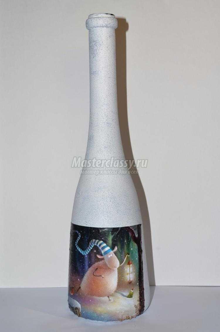 Ваза из стеклянной бутылки своими руками. Мастер-класс с пошаговыми фото