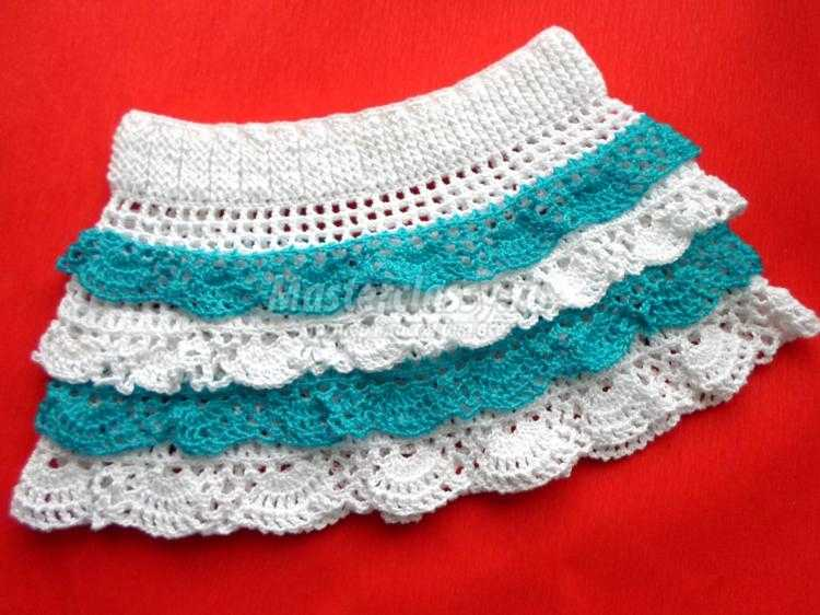 Вязание крючком юбка для девочки мастер классы