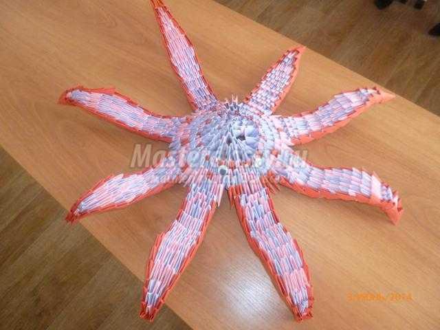 осьминог в технике модульное оригами