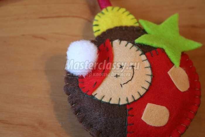 Фетровые елочные игрушки своими руками