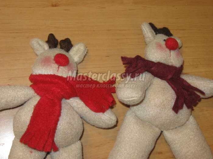 Новогодний Санта с оленями своими руками
