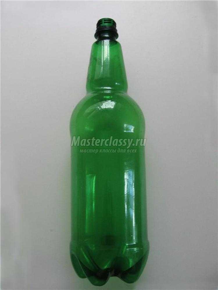 вазон на ножке из пластиковых бутылок