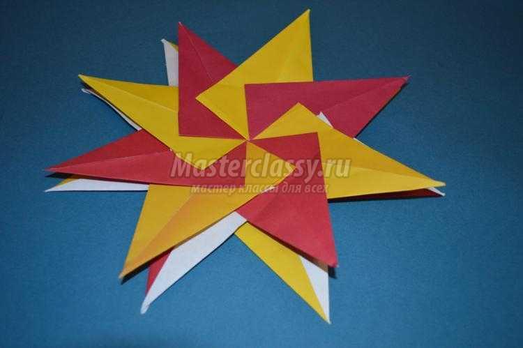 модульное оригами. Восьмиконечная звезда
