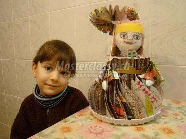 кукла из старых журналов. Барышня-крестьянка