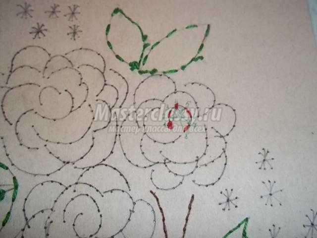 букет цветов в технике изонить