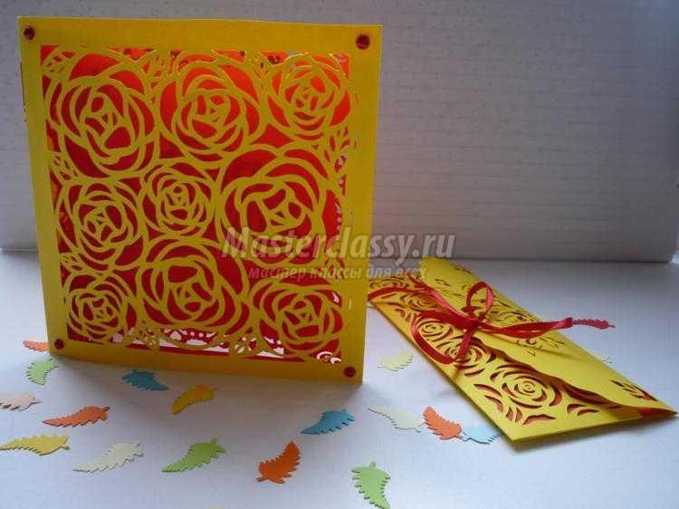 киригами. Ажурная открытка и конверт