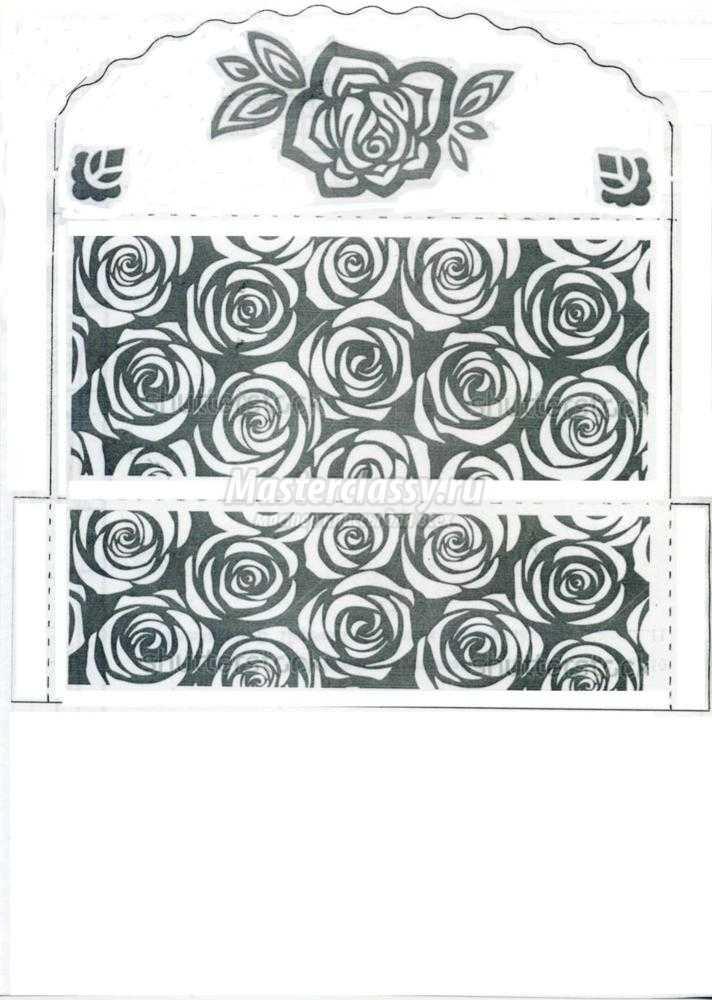 Черно-белая открытка из бумаги своими руками