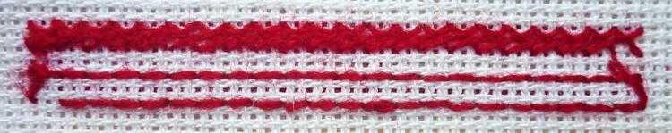 декоративная вышивка. Простые швы