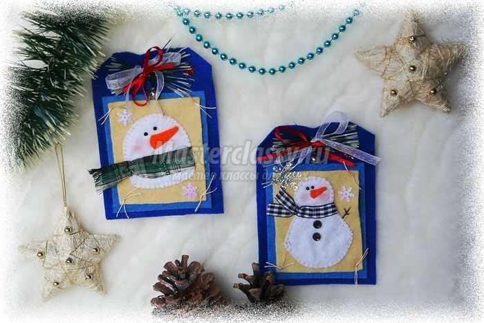 Новогодний мастер класс: елочные игрушки со снеговиками.