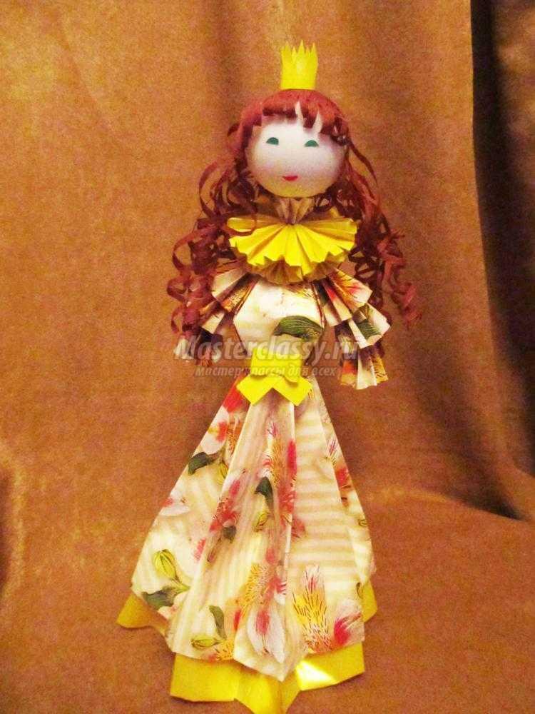 Модульное оригами. Кукла принцесса. Мастер-класс с ... Книга Своими Руками из Бумаги