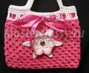 Вязаная сумочка крючком для девочки. Малинка. Мастер-класс с пошаговыми фото