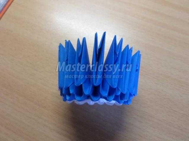 модульное оригами. Маленький птенчик