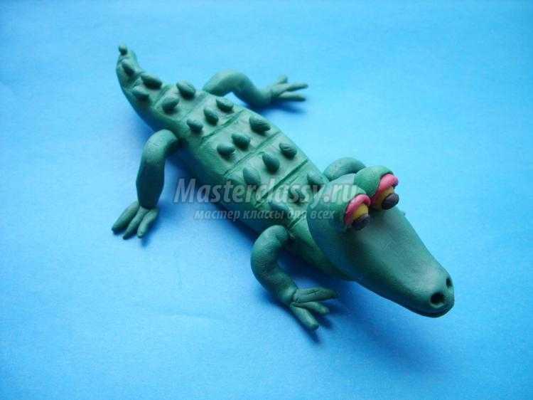Поделки пластилина крокодила