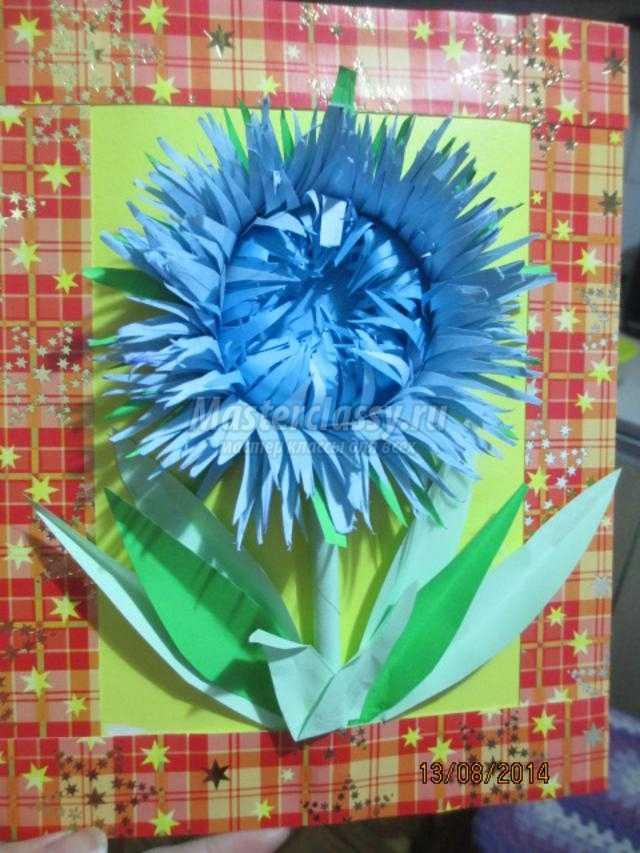 Снегурочка дед, цветы из цветной бумаги для открытки василек