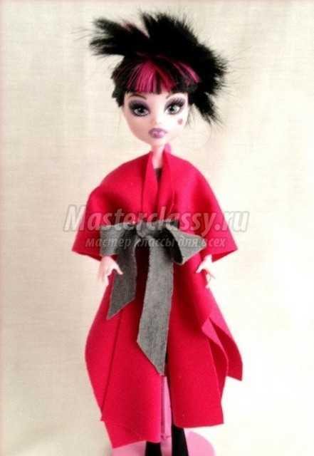 Платье и пальто для куклы Монстер Хай