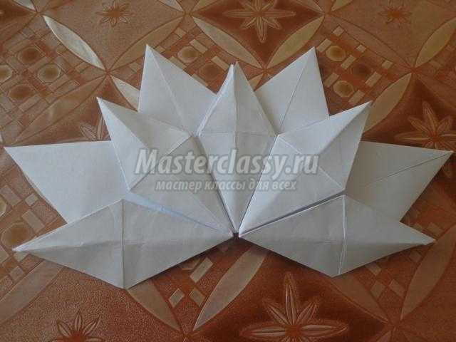 подснежники из бумаги в технике оригами