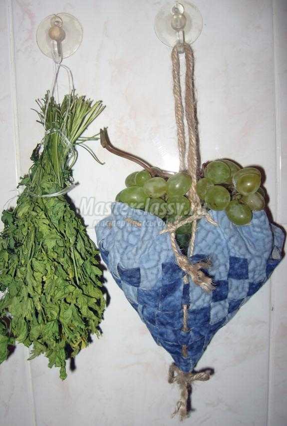 сердечко-мешочек из ткани для вкусностей