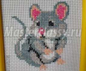 мышка вышивка