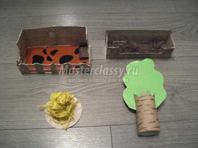 игровой макет из бросового материала. Ферма