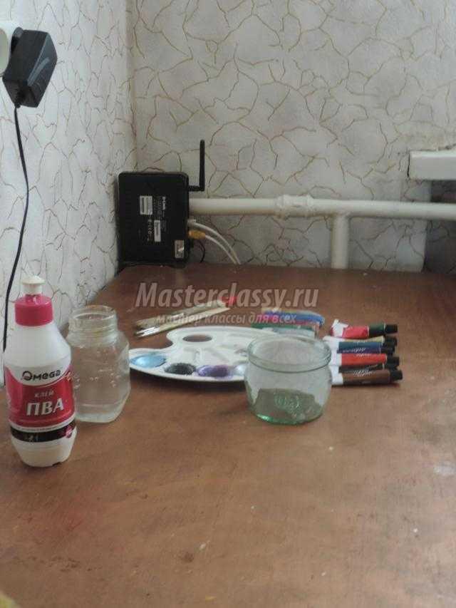 сувенирная баночка с витражной росписью красками