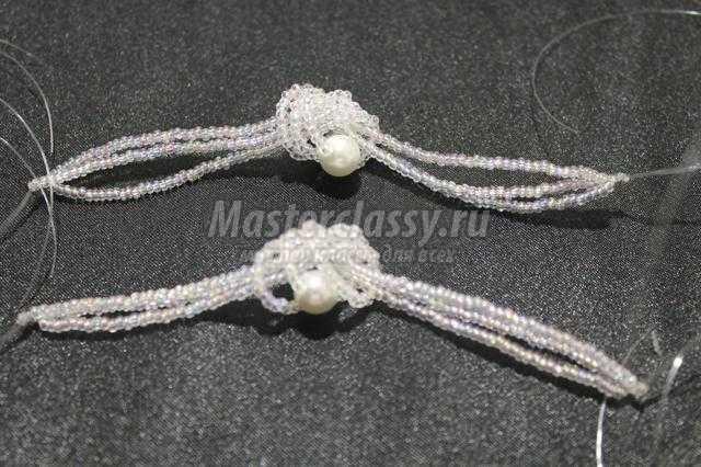 серьги-узелочки из бисера