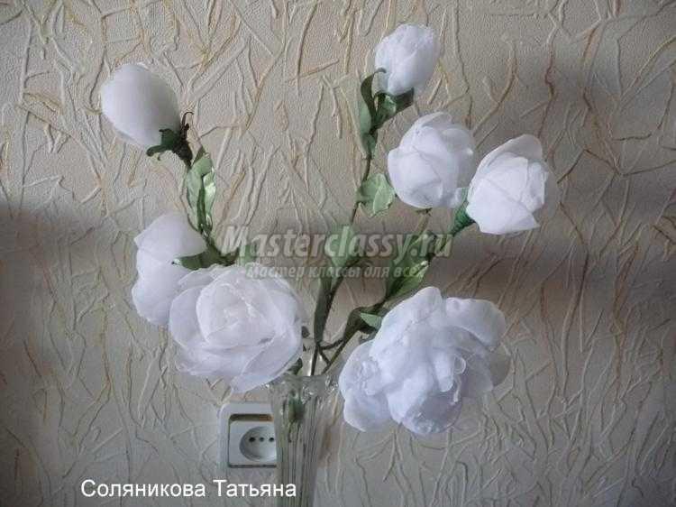 Цветы своими руками из ваты