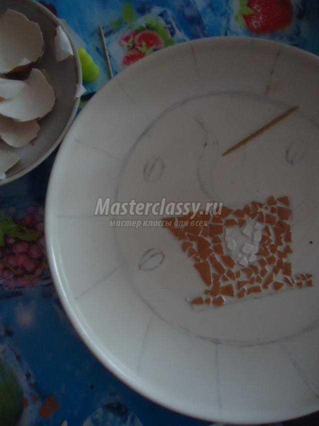декоративная фреска. Кракле из яичной скорлупы